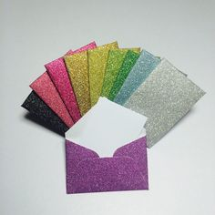 Little glitter envelopes with cards 2x3 by GreetingWithLove