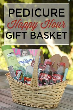 Celebrate summer with a pedicure gift basket! #CokeHappy Hour #ad