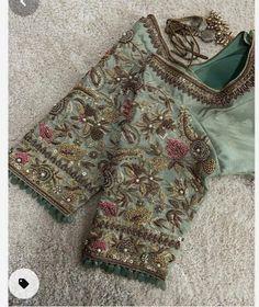 Pattu Saree Blouse Designs, Designer Blouse Patterns, Fancy Blouse Designs, Bridal Blouse Designs, Choli Designs, Blouse Designs Catalogue, Maggam Work Designs, Hand Work Blouse Design, Pure Silk