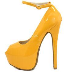 dc5b4494e5 Extreme Tornozelo Salto Alto Peep Toe Plataforma Stiletto Bomba de sapatos  de noiva vestido de festa