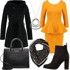 0588feb83108 L abito peplum  outfit donna Trendy per ufficio e tutti i giorni