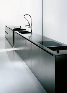 Case system 5.0 Inox, minimalist kitchen by Boffi _