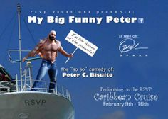 caribbear cruise rsvp muscle bear oprah hairy comedy funny peter bisuito my big funny peter