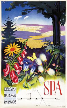 Vintage Travel Poster - Spa - Belgium.