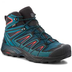 Salomon Men's Hiking Boots Red Red: Amazon.co.uk: Shoes & Bags