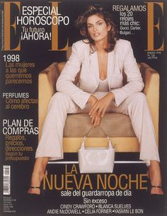 Cindy Crawford Magazine Covers | Cover of Elle Spain with Cindy Crawford - Magazine - January 1998 ...