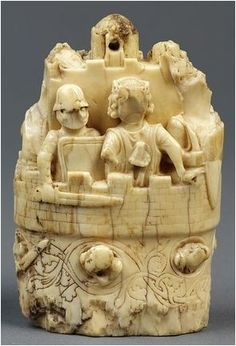 Chess ivory  piece. Rook,UK,13th cent.