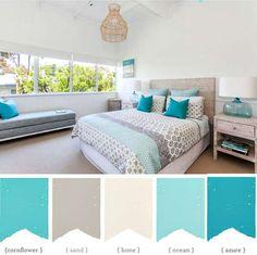 tengerparti stílusú hálószoba színei