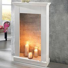 Genial GROSSE KAMINUMRANDUNG AUS HOLZ SHABBY CHIC WEISS | |u003c.. Fireplace |  Pinterest