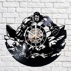 Hulk Handmade Vinyl Record Wall Clock Fan Gift - VINYL CLOCKS