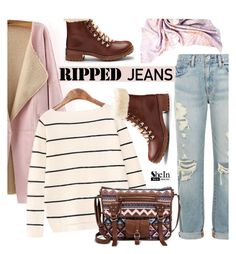 """Ripped jeans"" by mada-malureanu ❤ liked on Polyvore featuring Denim & Supply by Ralph Lauren, VC Signature, Under One Sky, ABO London, Sheinside, rippedjeans and shein"