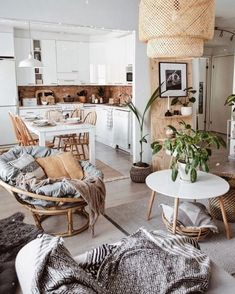 Home Decor Scandinavian .Home Decor Scandinavian Boho Living Room, Interior Design Living Room, Living Room Designs, Living Room Decor, Bedroom Decor, Decor Room, Bohemian Living, Bohemian House, Interior Office