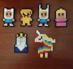 Adventure Time Inspired 8 Bit Magnet Set via eb.perler. Click on the image to see more!