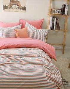 Stripes Pink Bedding Girls Bedding Teen Bedding Kids Bedding