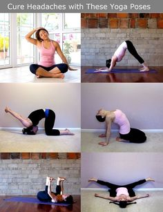 Migraine cures headache relief Cure work-related headaches when you get home with these Yoga poses- worth a shot! Yoga Inspiration, Fitness Inspiration, Tension Headache, Headache Relief, Headache Yoga, Headache Remedies, Yoga Fitness, Health Fitness, Workout Fitness