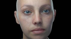 First test of the skin shader.