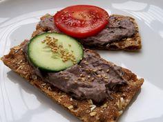 Zwarte bonen hummus, vegan