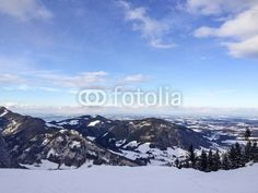 View from the mountains near Rupolding germany.