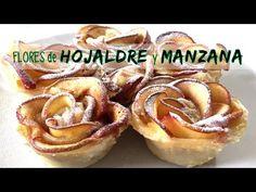 Rosas de hojaldre y manzana * RECETA FACIL - YouTube