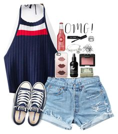 """""""OMG!"""" by scpprep ❤ liked on Polyvore featuring Levi's, Converse, NARS Cosmetics, Casetify, H&M, Alex and Ani, Bobbi Brown Cosmetics and Uno de 50"""