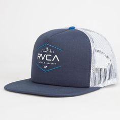 Rvca Industrial Mens Trucker Hat Midnight Blue One Size For Men 25475425501 de9cd52ddf00