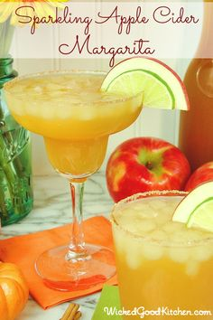 Sparkling Apple Cider Margarita