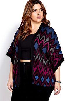 Striking Zigzag Woven Kimono   FOREVER 21 - 2000091007