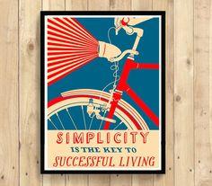 BAMBOO PAPER Cycling Print - Bicycle Poster Cycling  Bike Poster Cycling Decor Cycling Poster Bicycle  Cycling Art   bp