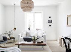 Scandinavian ease in s one-roomer via Gothenburg broker Stadshem Gravity Home, Hardwood Floors, Flooring, Swedish Design, Classic Interior, Beautiful Space, Small Apartments, Living Room Interior, Home Renovation