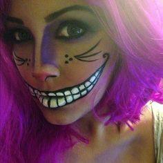 Ideas de maquillaje para Halloween Gato de Cheshire