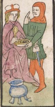 Heidelberger Bilderkatechismus' (Handschrift) ; Biblia pauperum (Blockbuch) ; Totentanz (Blockbuch) u.a. Ostmitteldeutschland, um 1455/1458 Cod. Pal. germ. 438  Folio 116r
