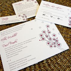 Beautiful Blossoms Custom Wedding Invitations