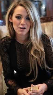 Who made Blake Lively's black lace shirt?