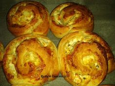 Betty's Cuisine: Τυρόψωμα Greek Desserts, Greek Recipes, Bread Cones, Olive Bread, Yeast Bread, Artisan Bread, Quick Bread, Holiday Recipes, Kitchens