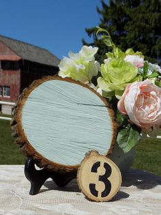Blue Green Chalkboard Log Slice - Chalkboard Photo Prop - Rustic Wood Chalkboard - Wedding Sign - Chalkboard Menu Sign - Rustic Wedding Chic