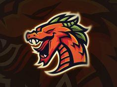 Mighty dragon mascot logo