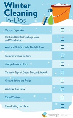 Prep your home for holiday entertaining with this list of essential winter cleaning tasks. Cleaning Checklist, Cleaning Hacks, Cleaning Schedules, Winter Hacks, Winter Tips, Deep Cleaning, Spring Cleaning, Homemade Cleaning Products, Winter House