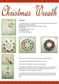 AIM January Supplement 2013 Issue 45 - This looks like a lot of work. Think I'd dump a bunch of glue on the circle then turn it upside down in a bunch of beads. Dollhouse Miniature Tutorials, Dollhouse Kits, Dollhouse Miniatures, Beaded Christmas Ornaments, Christmas Wreaths, Christmas Crafts, Miniature Christmas, Christmas Minis, Clay Owl