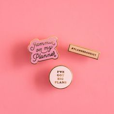 we've got big plans for these enamel pins - stick them to your backpack, your pencil case, the elastic on your brand new ban.do agenda, or literally wherever. inspired by #planneraddicts and our girl,