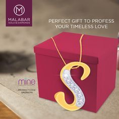 It's time to profess your timeless love. Gift your companion the beautiful pendant studded with diamonds and let her get accustomed to compliments