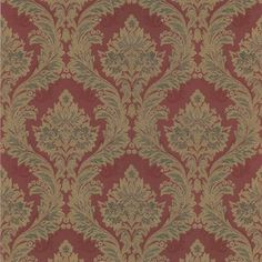 With a rich red hue and ornate ogee print, this brilliant wallpaper has a luxurious feel. Its threaded design adds to its ornate and regal style. Damask Ogee Red Wallpaper is an solid sheet vinyl, prepasted wallpaper. Damask Wallpaper, Vinyl Wallpaper, Wallpaper Roll, Peelable Wallpaper, Prepasted Wallpaper, Brewster Wallpaper, Narrow Living Room, Canada, Red Walls