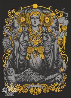Iberian Hecate gray by Medusa-Dollmaker.deviantart.com on @DeviantArt