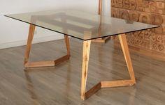 Mesa comedor CL #dinner #table #dinnertable #wood #glass @macrocefalo