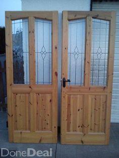 Pine double doors