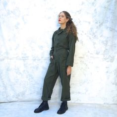 70s Mechanic Coveralls Small Flight suit Gearhead by Chicaluna