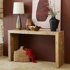 "Emmerson™ Reclaimed Wood Console | west elm 53""w x 15""d x 31""h. FSC®-certified solid reclaimed pine; wax finish.  $549"