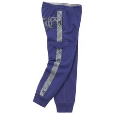 Indigo blue tracksuit pants made of fleece. Pockets on the sides and on the legs. Tracksuit Pants, Jogger Pants, Joggers, Sweatpants, John Galliano, Sport Wear, Fashion Kids, Erika, Active Wear