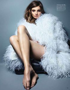 The Vogue Japan July 2011 Shoot Takes You Back to a Classic Time #feathers #fashion trendhunter.com