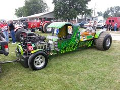 AT IT AGAIN.   super modified 2wd truck