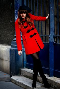 #red coat #2dayslook #maria257893 #redjacket  http://pinterest.com/maria257893